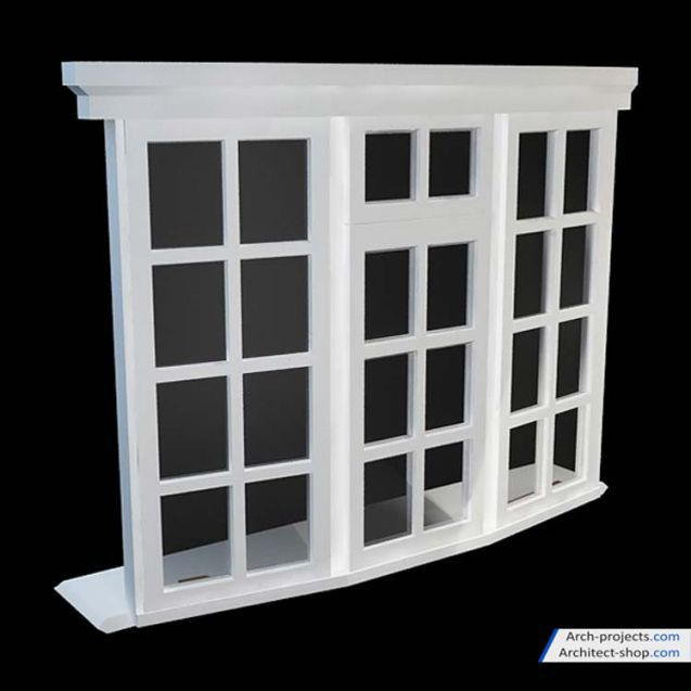 مدل سه بعدیدرب و پنجره