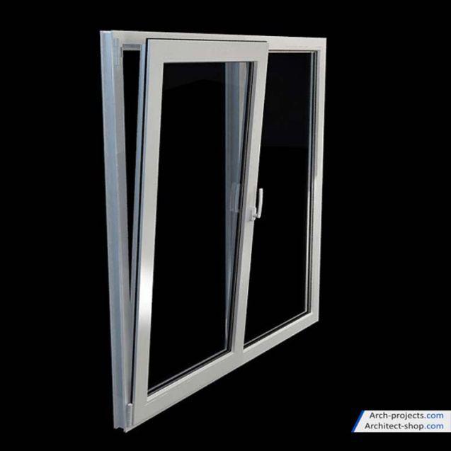 مدل سه بعدی درب و پنجره