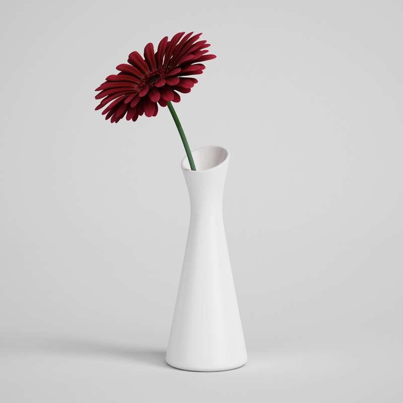 مدل سه بعدی گل و گلدان از CGAxis