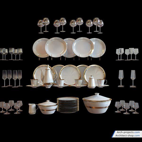 مدل سه بعدی تجهیزات آشپزخانه