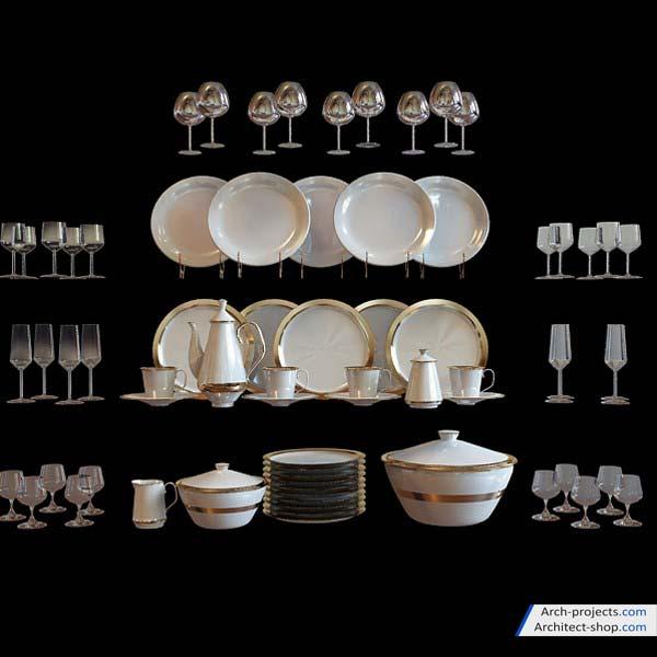 دانلود رایگان مدل سه بعدی تجهیزات آشپزخانه