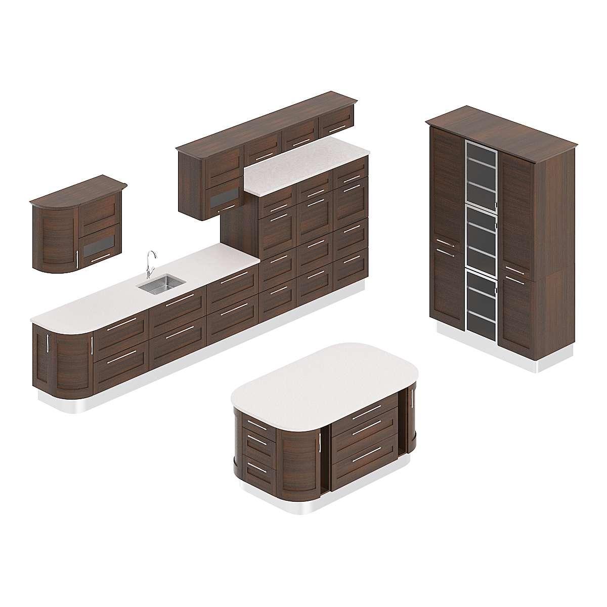 مدل سه بعدی کابینت آشپزخانه از CGAxis