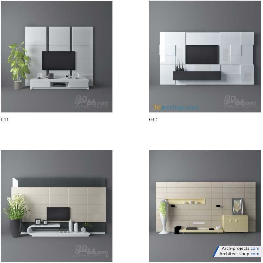 مدل سه بعدی میز تلویزیون
