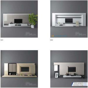 مدل سه بعدی میز تلویزیون - TV Media Furniture 300x300