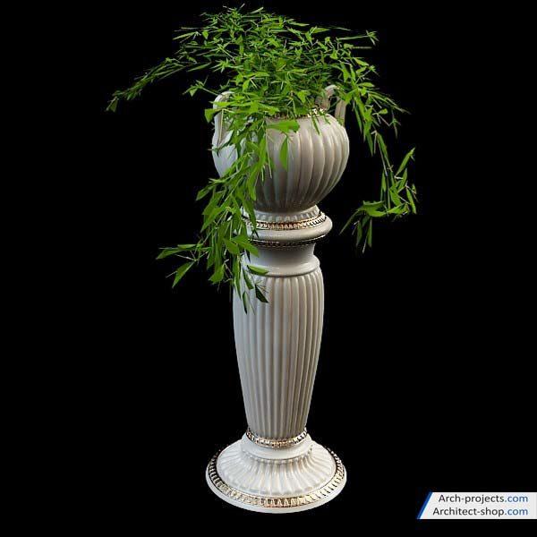 مدل سه بعدی گلدان زینتی - Vase 3d models 600x600