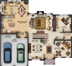 دانلود تصاویر لایه باز ویژه پست پروداکشن پلان - floor plan blocks 4 300x276