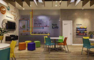 طراحی داخلی آموزشگاه زبان انگلیسی در برزیل