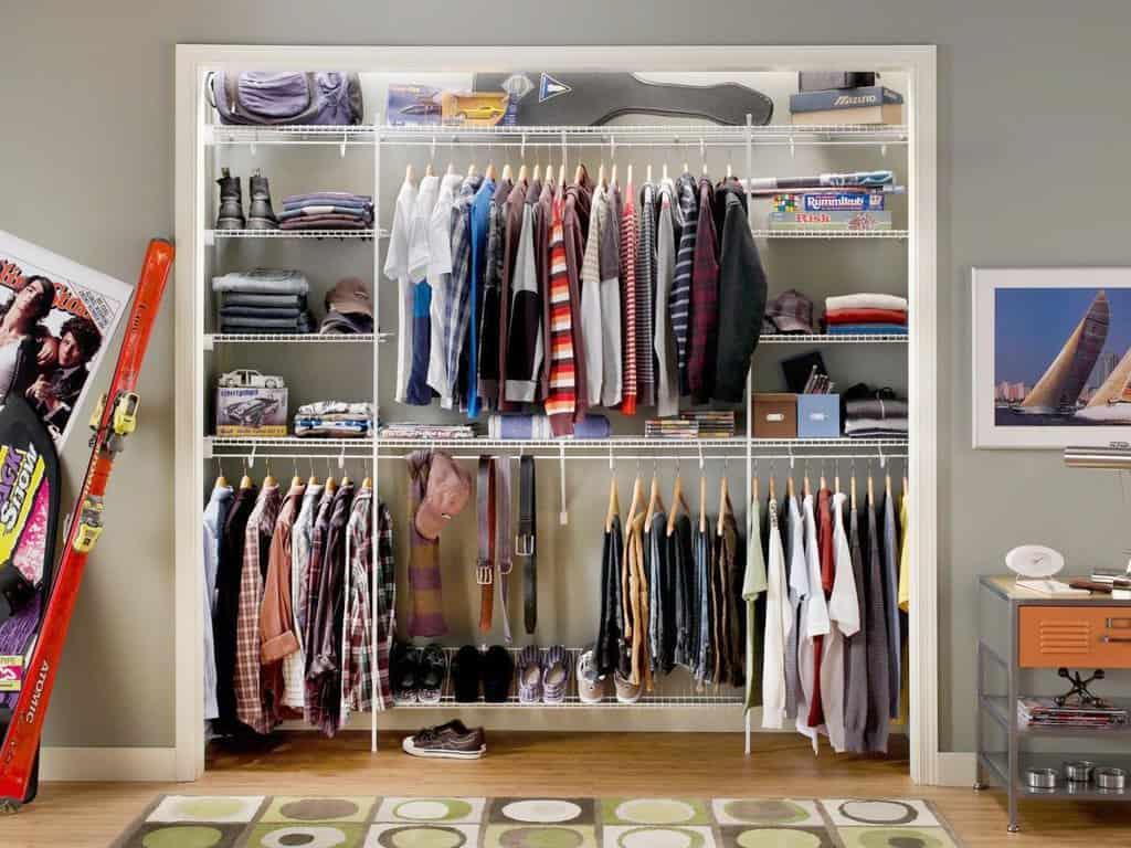 4 ترفند ساده برای افزایش فضای کمد لباس و اتاق خواب - Genius Closet Organizing 6 1