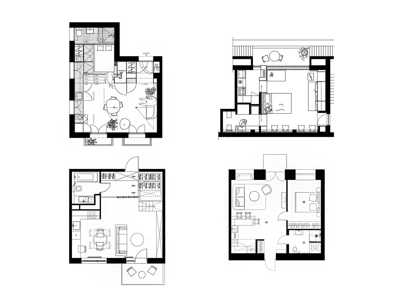 26 پلان آپارتمان کوچک با مساحت 20 تا 50 متر مربع - House Plans Under 50 Meters 1 1
