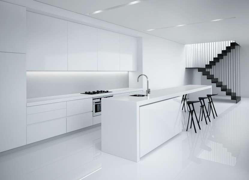 دکوراسیون آشپزخانه به سبک مینیمال