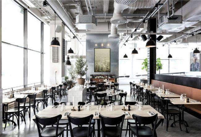 طراحی داخلی رستوران با سبک اسکاندیناوی
