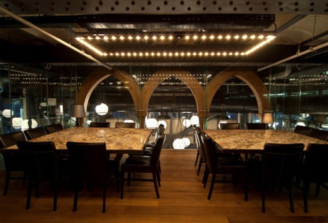 طراحی داخلی رستوران دریایی در اسرائیل