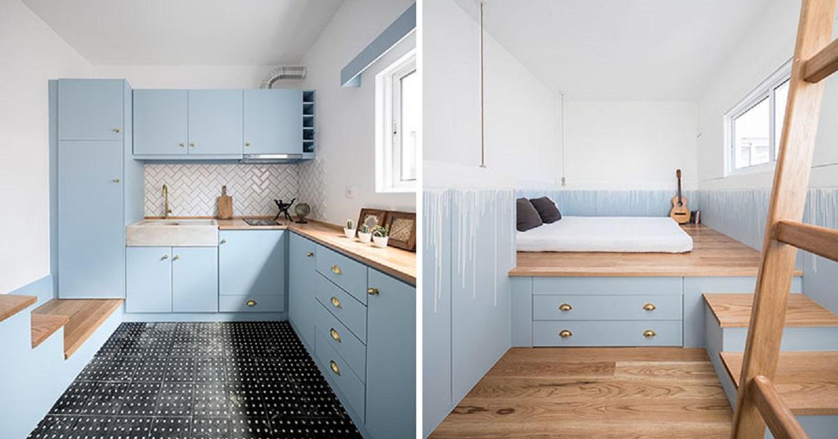 طراحی داخلی خانه یک خوابه در پرتغال - Small House Portugal 9