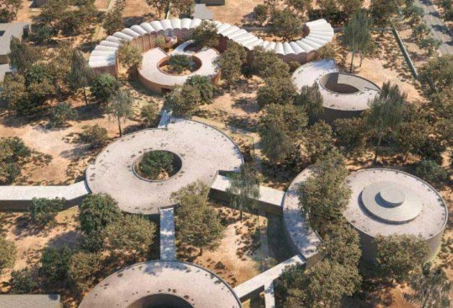 طراحی بیمارستان صحراییسلولی شکل