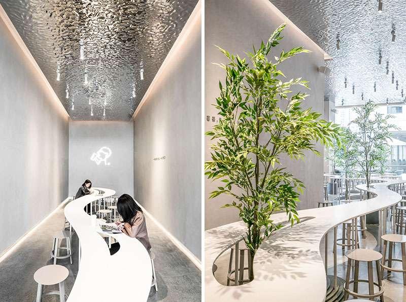 طراحی داخلی فروشگاه چای