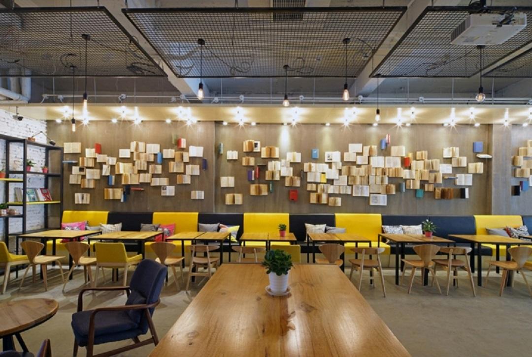 طراحی داخلی کتابفروشی در چین - Yan Ji You Bookstore 13