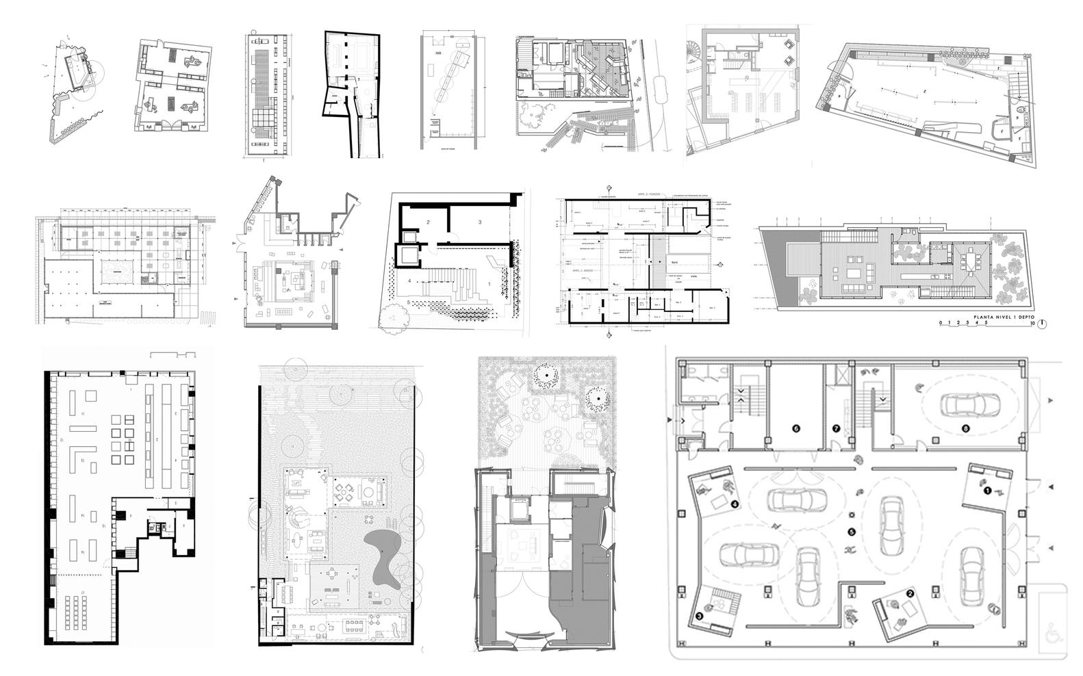 پلان فروشگاه های تجاری با مساحت 100 تا 1000 متر مربع - architectural plan retail shop 51
