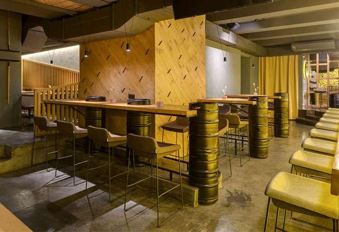 طراحی داخلی کافه بار