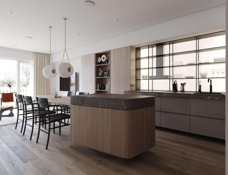 50 نمونه دکوراسیون داخلی آشپزخانه لوکس - kitchen interior design 47