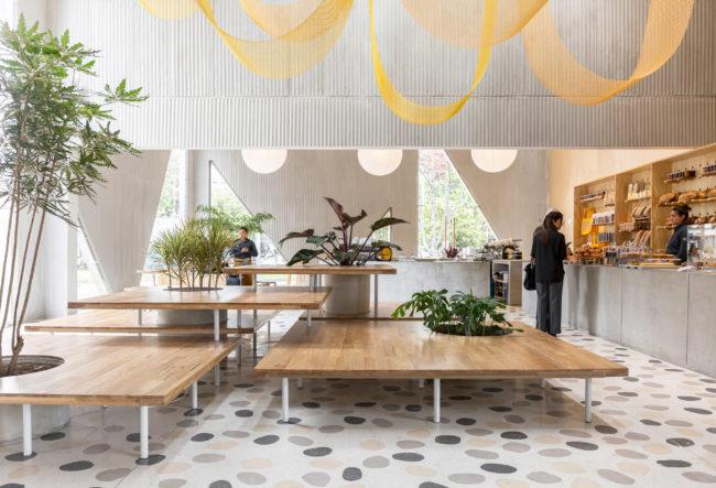 طراحی داخلی کافه قنادی با کانسپتی متفاوت