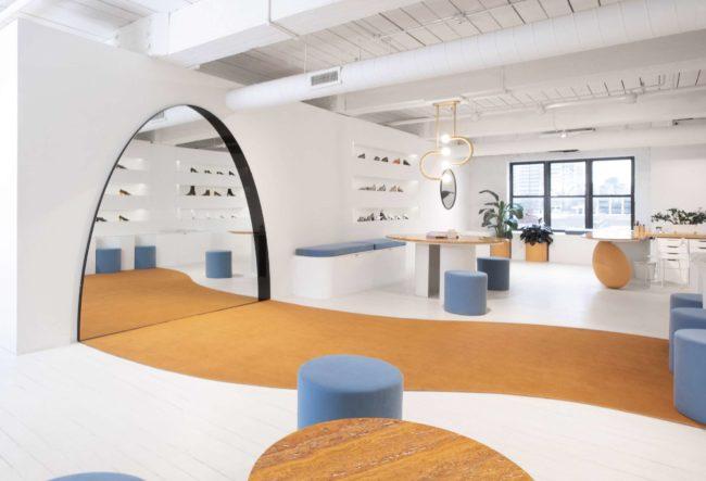 طراحی داخلی فروشگاه کفش زنانه