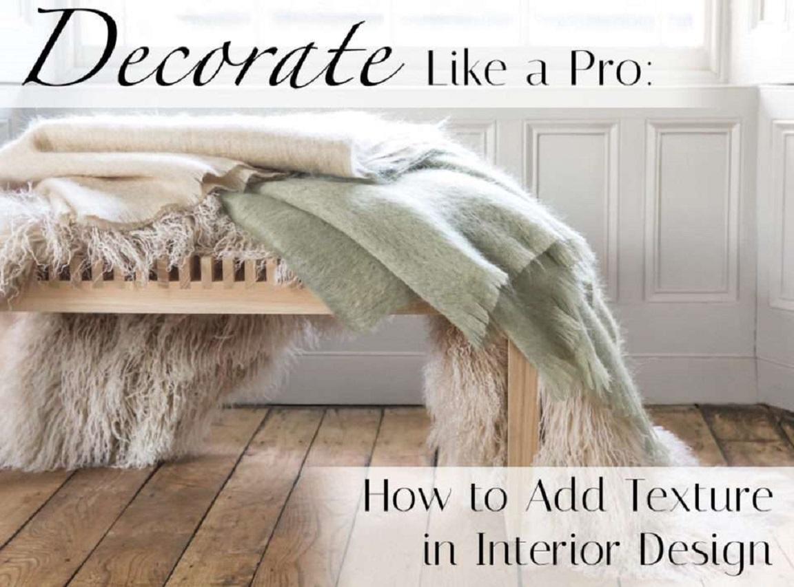 کاربرد بافت در دکوراسیون - texture interior design 1 1