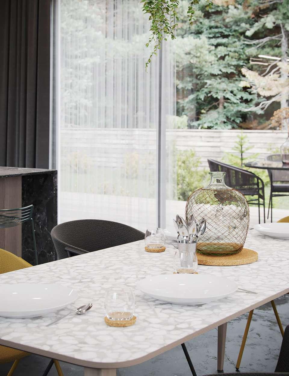 طراحی داخلی خانه با تم مشکی