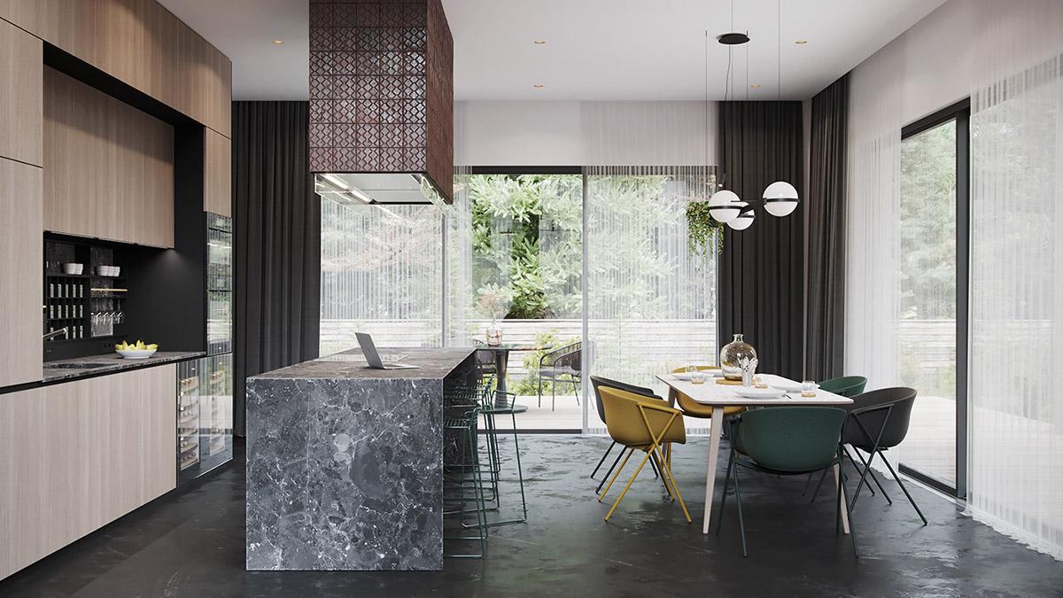 طراحی داخلی خانه با تم مشکی - House Black Decor 9 1