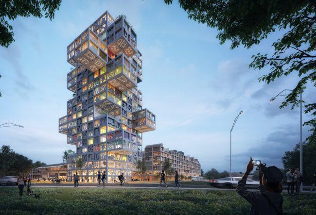طراحی مجتمع تجاری مسکونی توسط گروه معماری MVRDV