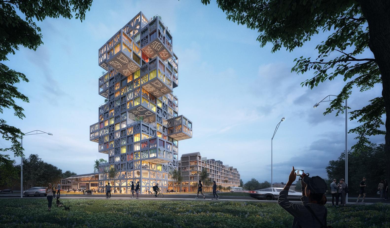 طراحی مجتمع تجاری مسکونی توسط گروه معماری MVRDV - KoolKiel Tower 1 1