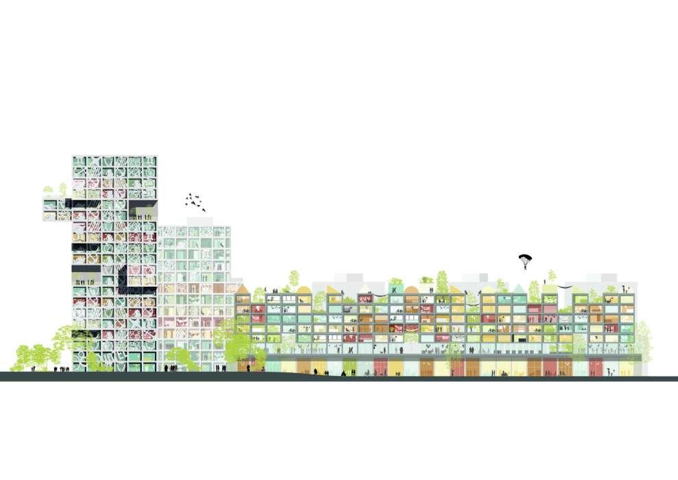 طراحی مجتمع تجاری مسکونی