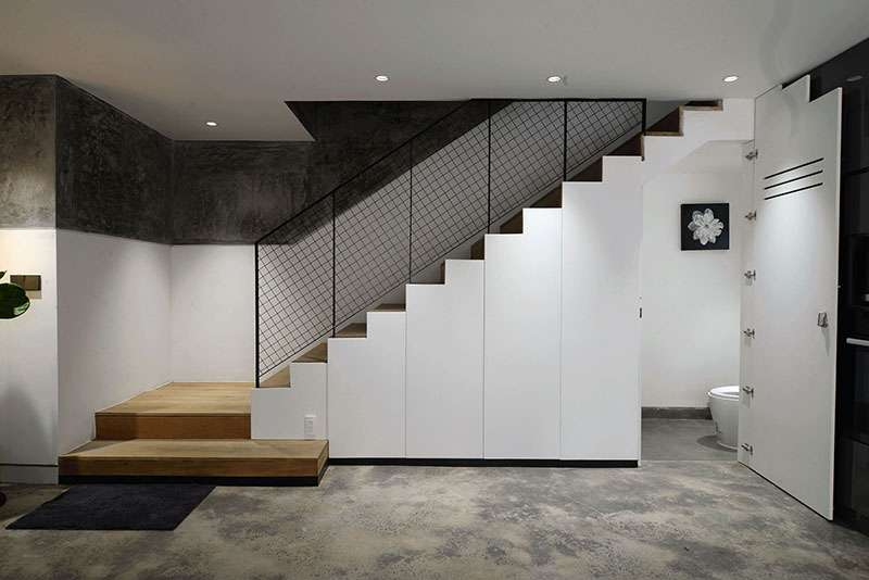 طراحی میکرو آپارتمان با کمد های مخفی