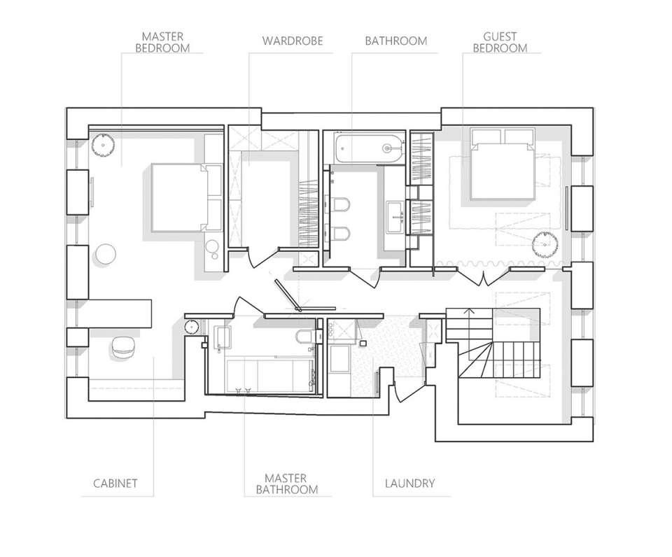 پلان آپارتمان مدرن