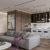 طراحی داخلی خانه با سنگ مرمر و تم بنفش