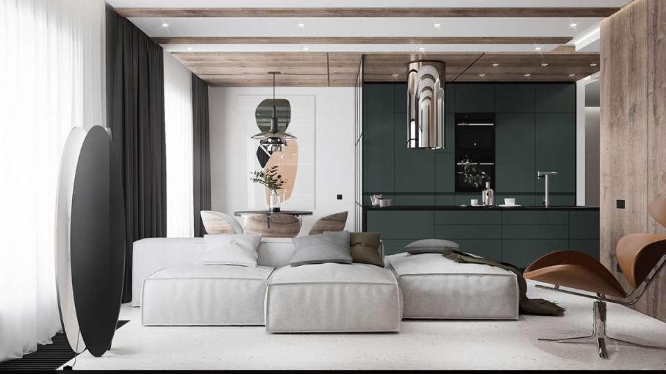 آپارتمان با سبک مدرن و مینیمال