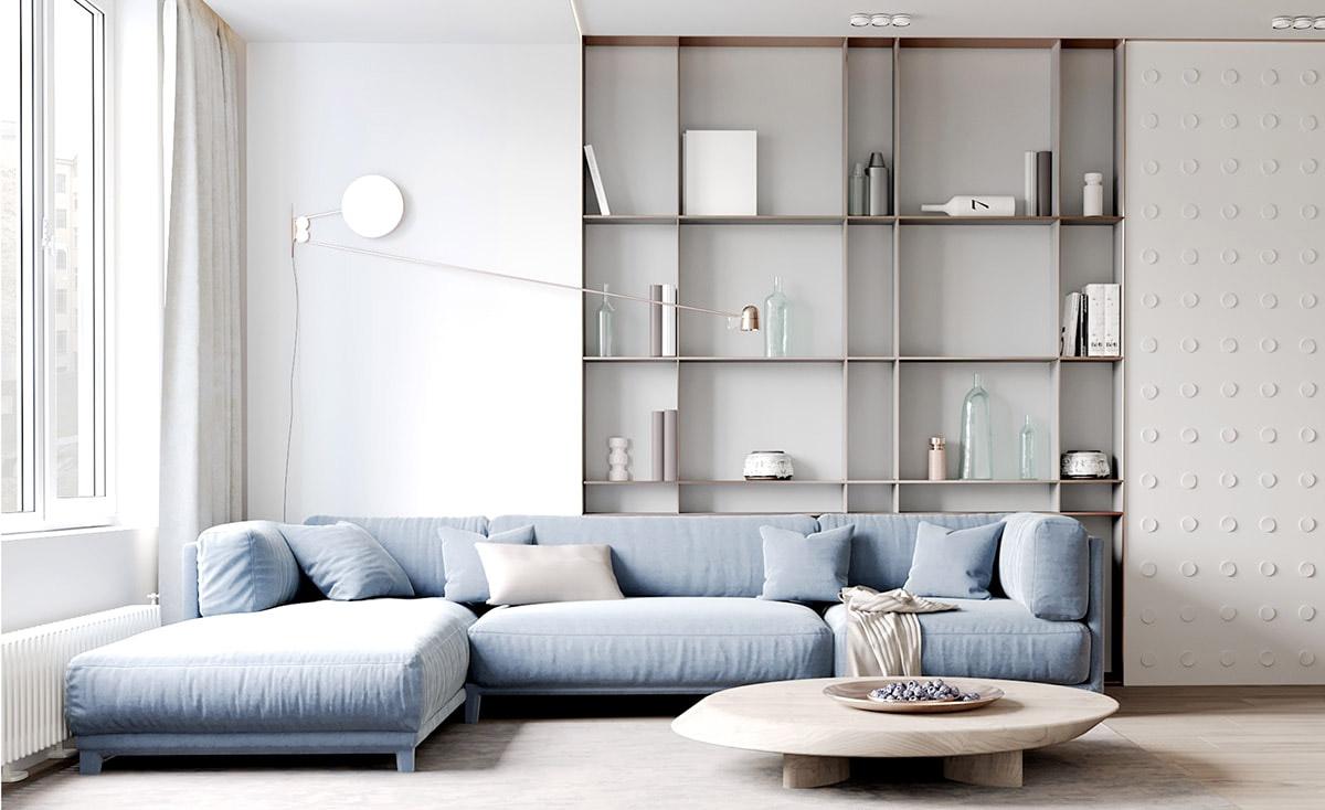 طراحی داخلی آپارتمان با رنگ پاستلی - Pastel Home Interior 1 1