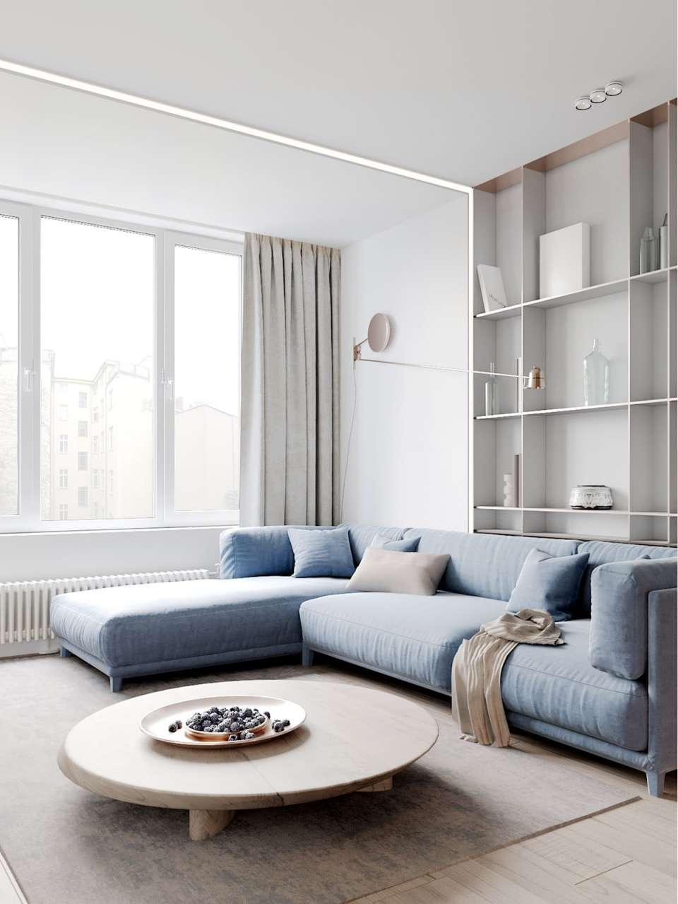 آپارتمان با رنگ پاستلی