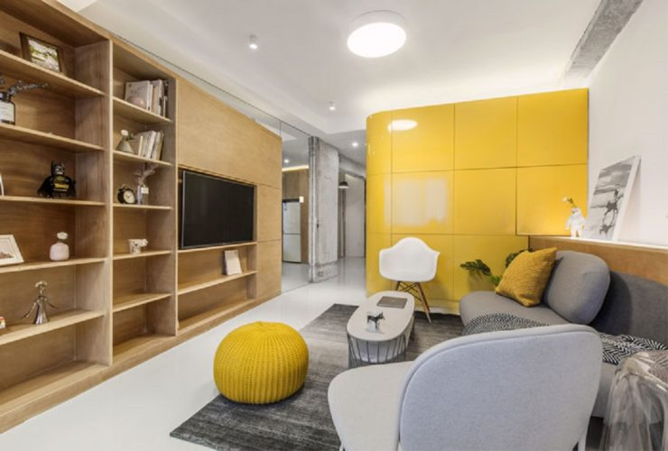 بازسازی استودیو آپارتمان با باکس های کاربردی