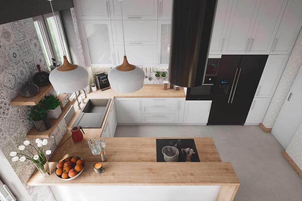 30 ایده طراحی آشپزخانه U شکل - U Shaped Kitchens 12