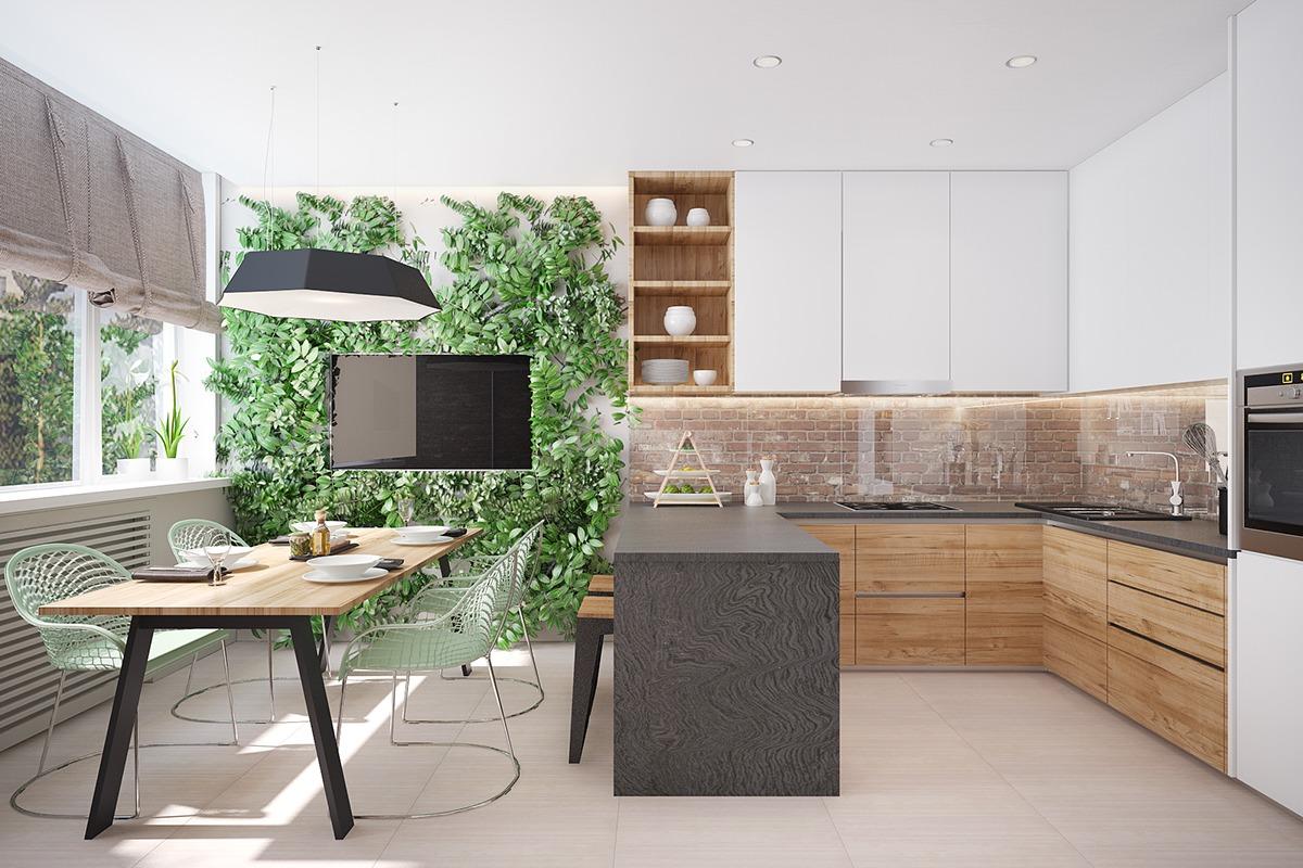 30 ایده طراحی آشپزخانه U شکل