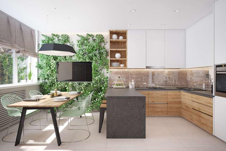 30 ایده طراحی آشپزخانه U شکل - U Shaped Kitchens 31