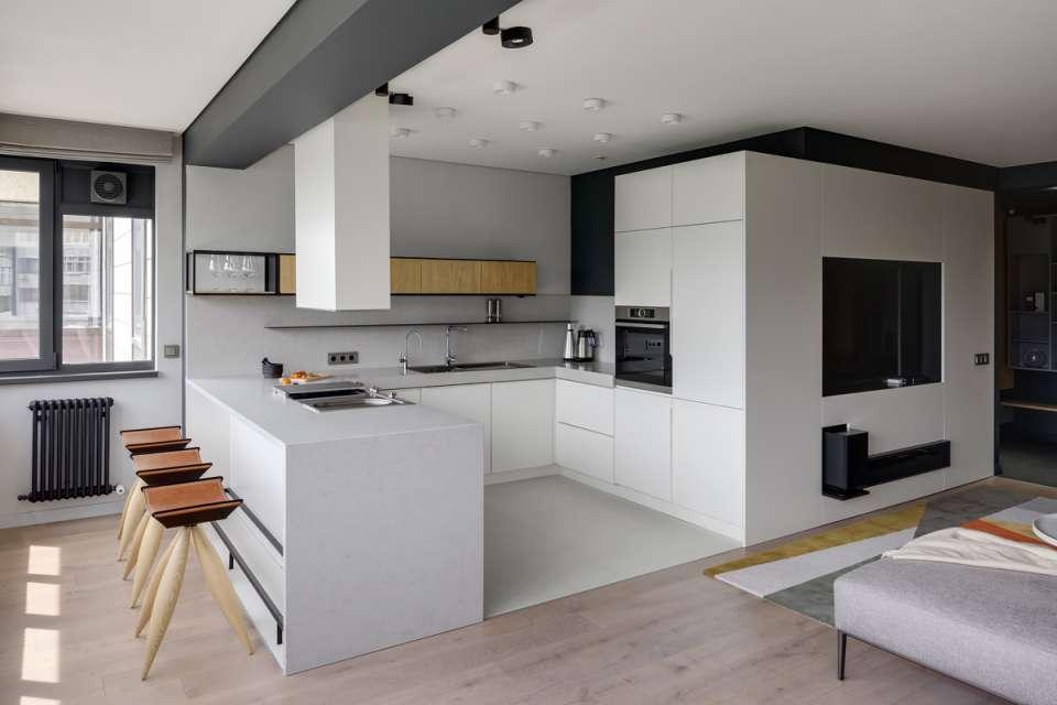 30 ایده طراحی آشپزخانه U شکل - U Shaped Kitchens 6