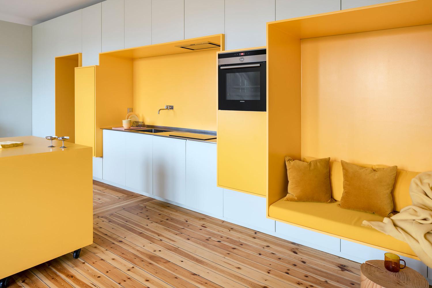 طراحی داخلی آپارتمان با دیوار مدولار - apartment function walls 12