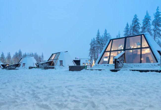 ایده طراحی هتل زمستانی در فنلاند