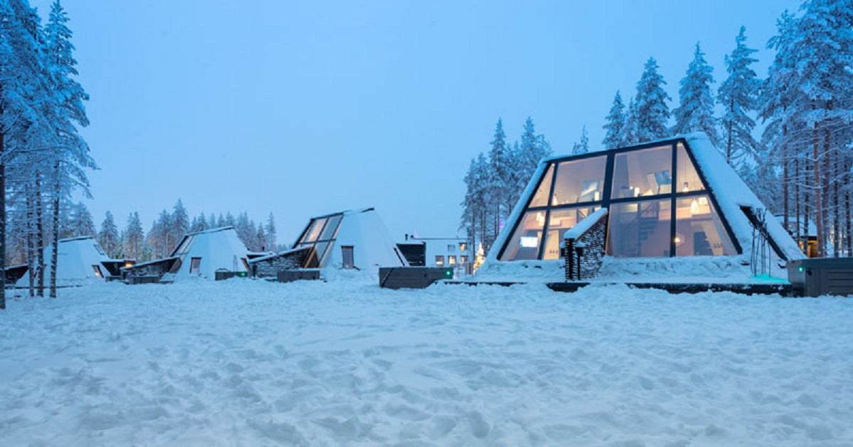 ایده طراحی هتل زمستانی در فنلاند - winter hotel 10