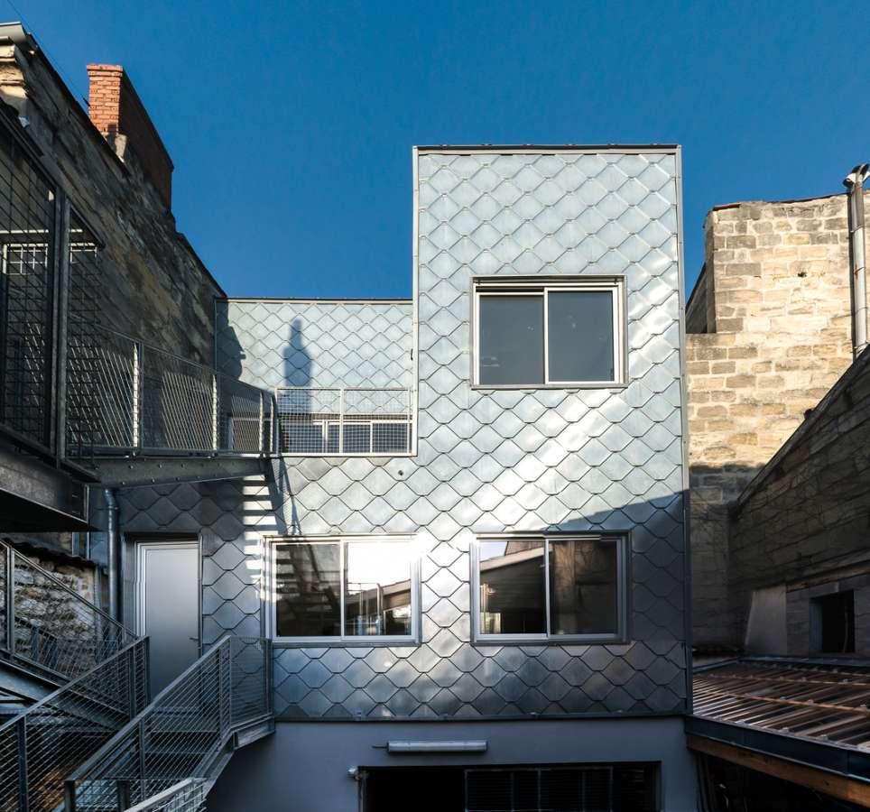 نمای ساختمان با متریال روی