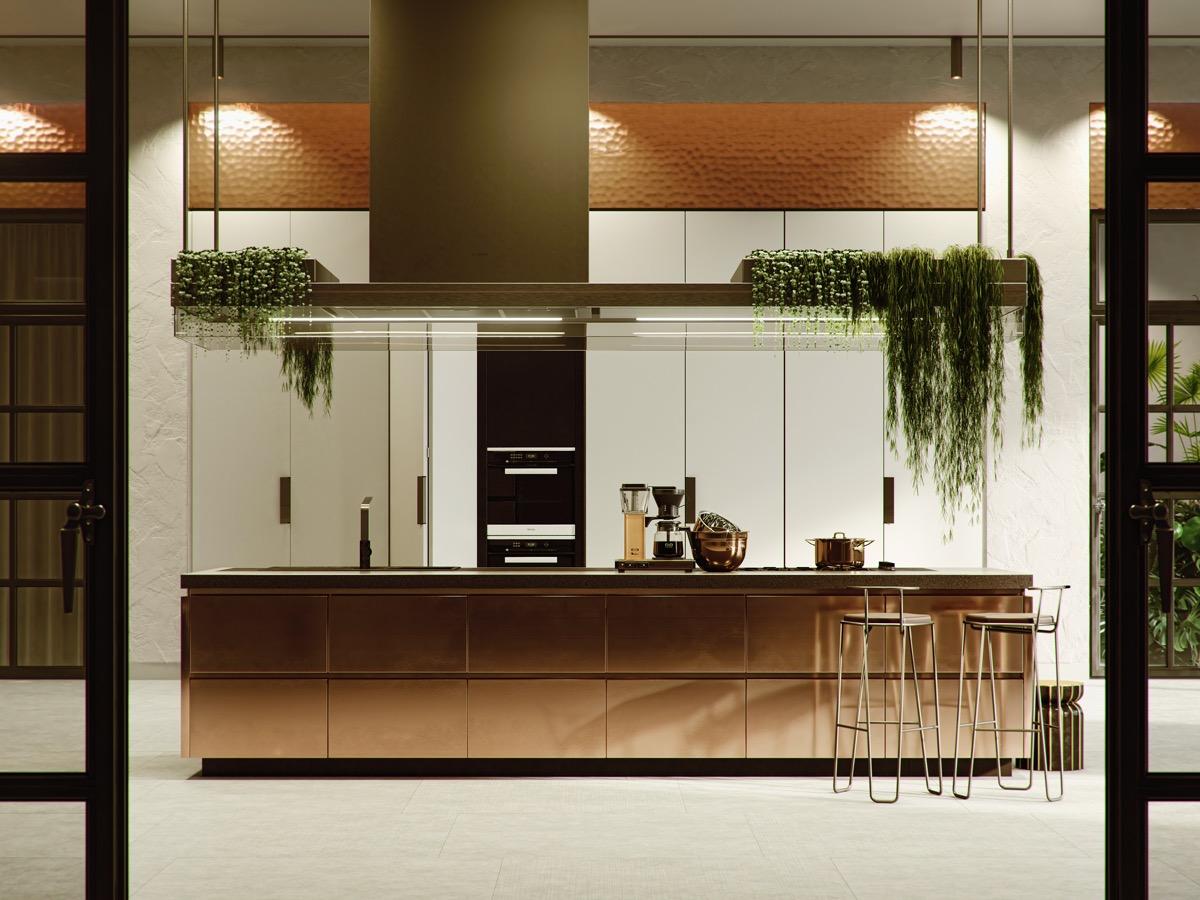 36 ایده طراحی آشپزخانه مسی - Copper Kitchens 3 1