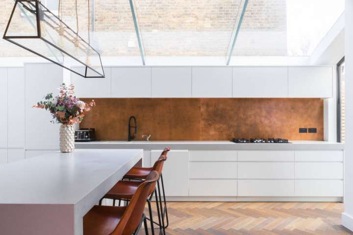 طراحی آشپزخانه مسی