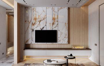 30 ایده طراحی دیوار پشت تلویزیون