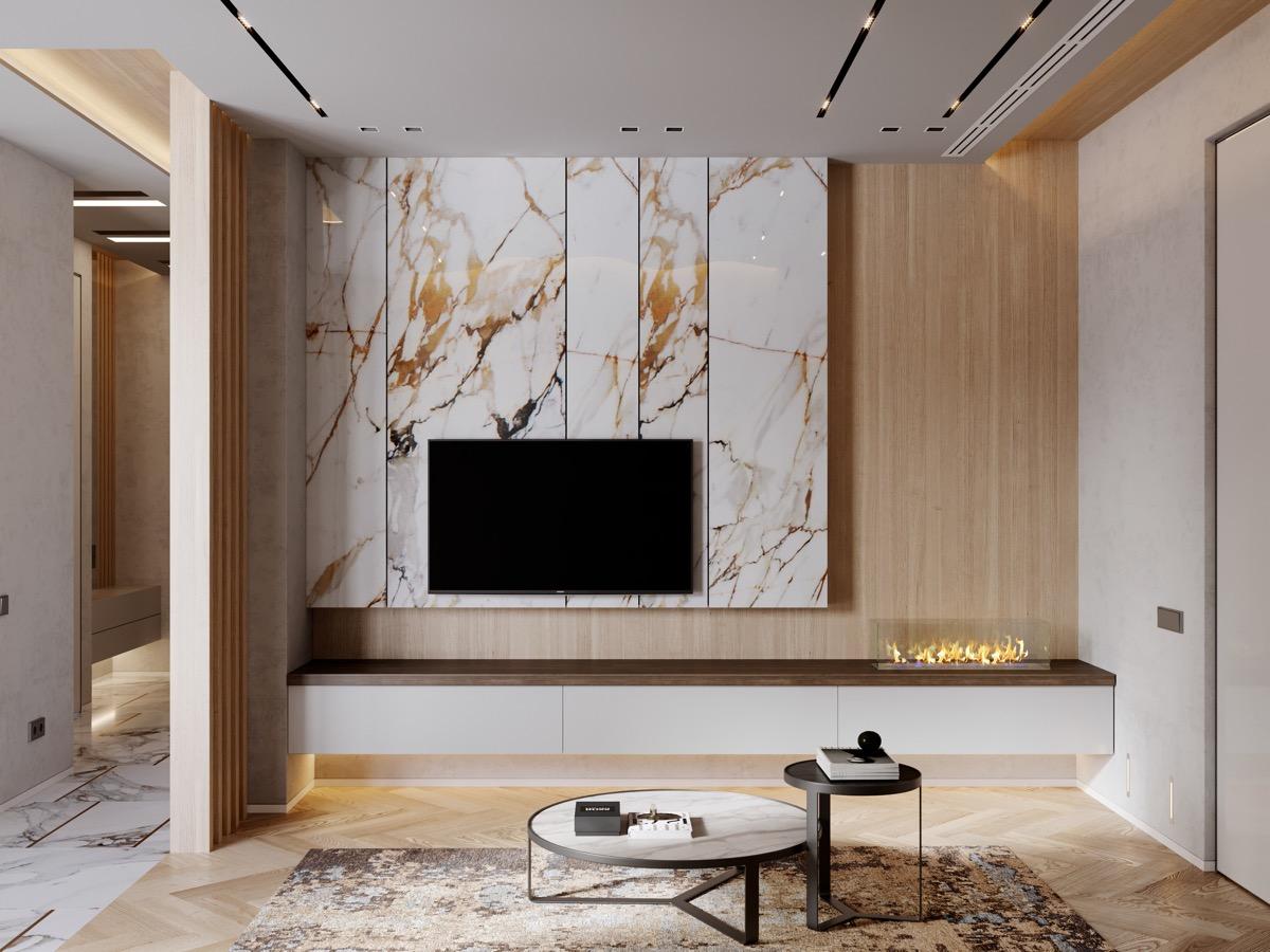 30 ایده طراحی دیوار پشت تلویزیون - Decorate The Wall 8 1